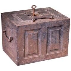 Georgian 18th Century Cast Iron Mail Coach Strong Box