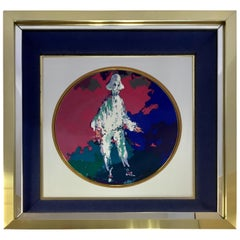 LeRoy Neiman Limited Edition Royal Doulton Pierrot 1975 Framed Artwork Plate