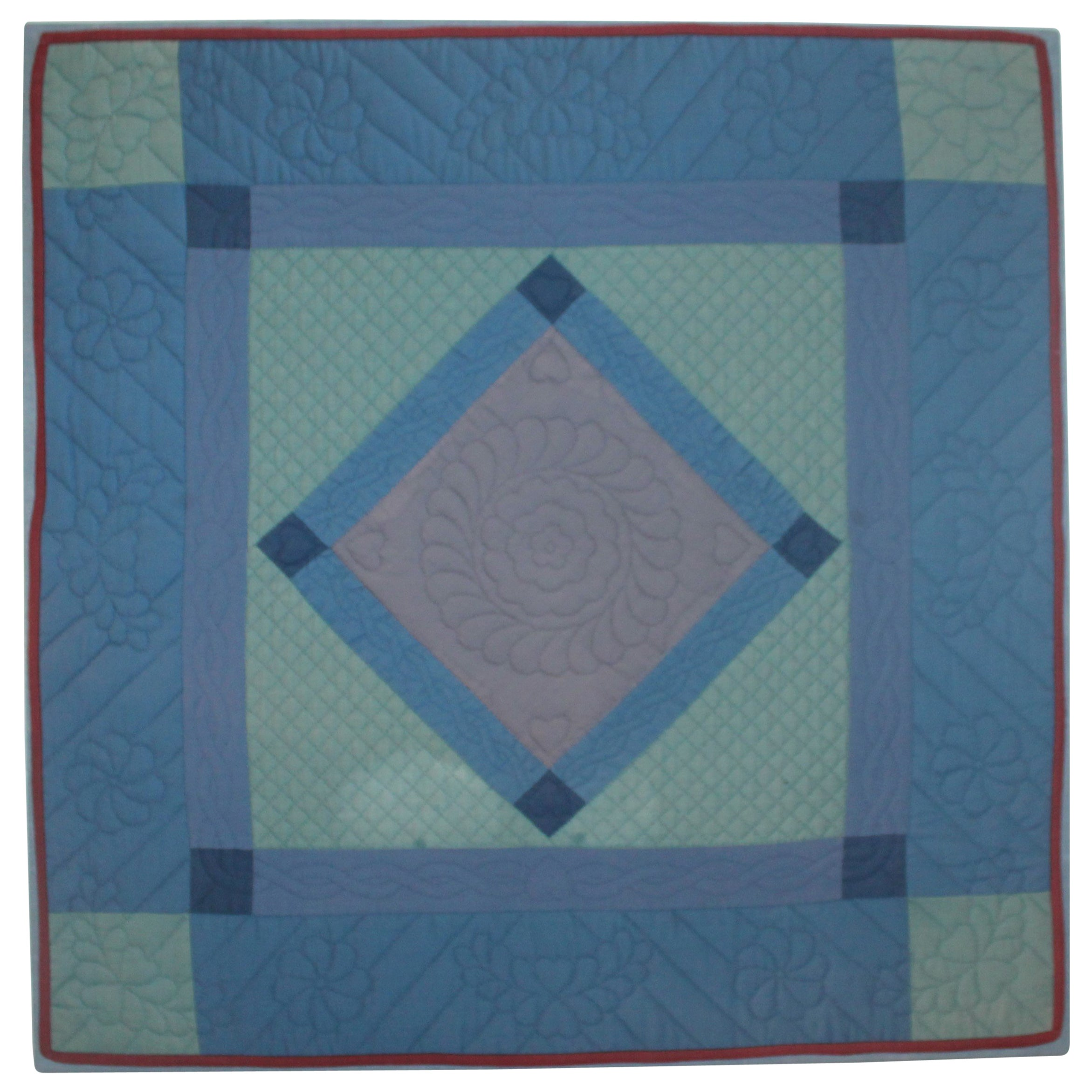 Antique Quilts, Amish Crib Quilt Mounted