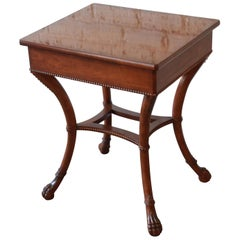 Baker Furniture Stately Homes Mahogany Claw Foot Side Table