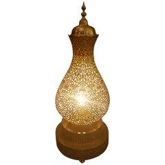 Koppa Intricate Moroccan Copper Lamp or Lantern, Table Lamp