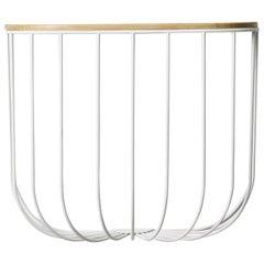 Cage Shelf, White or Light Ash
