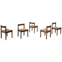 "Vico Magistretti Midcentury ""Carimate"" Dining Chair for Cassina, 1963, Set of 5"