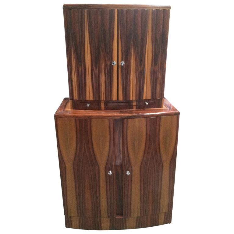 Art Deco Style Cocktail Cabinet Dry Bar 1
