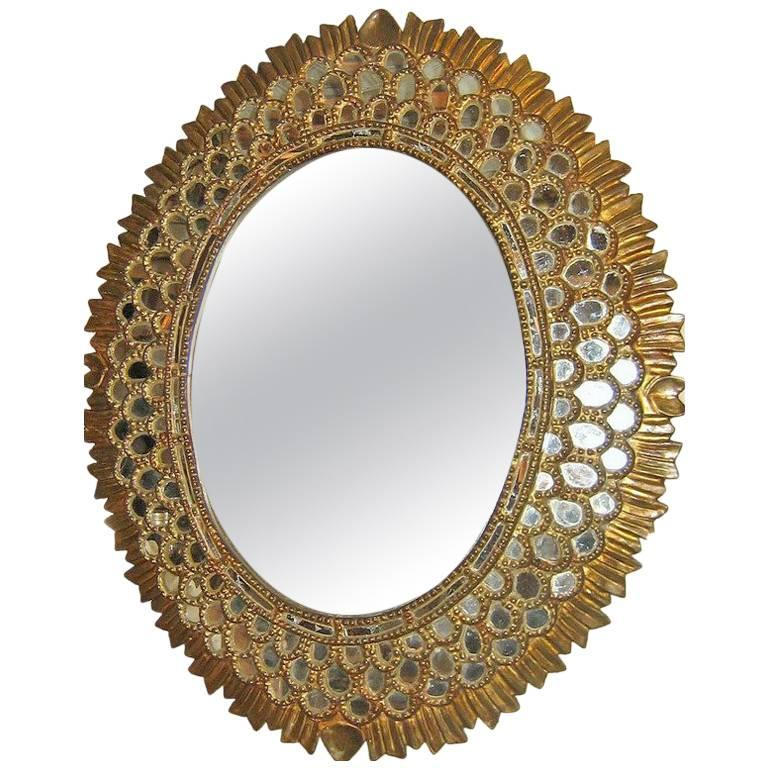 Large Oval Spanish Colonial Mirror