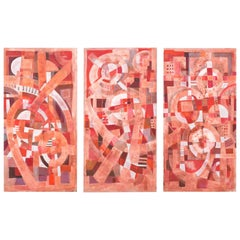 Pink, Red and White Triptych, Tom John, 2010