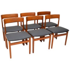 1960s Set of 6 Vintage Teak Dining Chairs by Younger