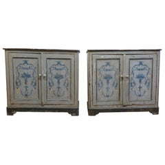 Antique French Painted Buffet Cabinets