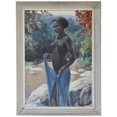 Figurative Painting of African Woman by Rob Francken, Belgium