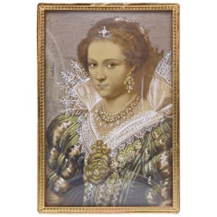 Portrait Painting of a Royal Elizabethan Woman by Ida Calzolari