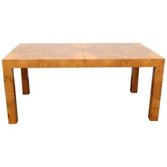 Milo Baughman Burled Walnut Dining Table