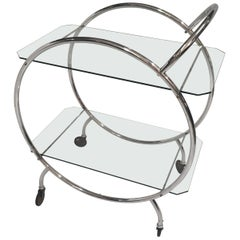 Art Deco 1930s Tubular Chrome Bar Cart