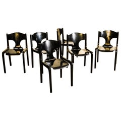 Set of 12 Savini Dining Chairs by Augusto Savini for Pozzi