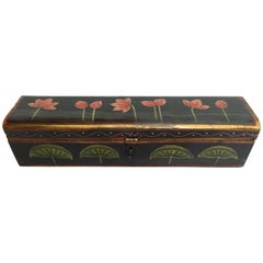 Rajhastani Hand Painted Decorative Box Black with Floral Designs