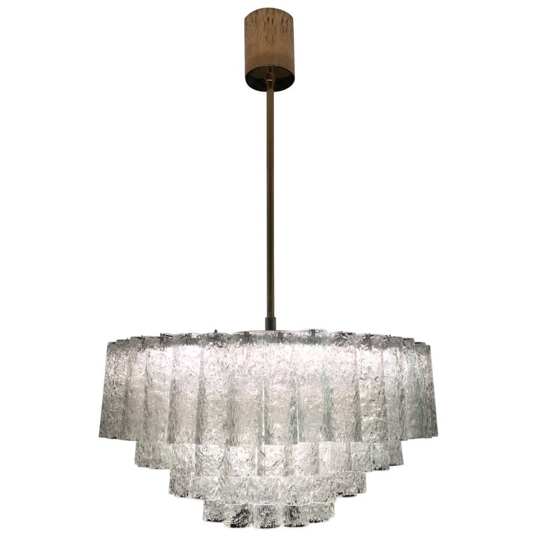 Large Four-Tier Chandelier by Doria of Germany, 1960s For Sale