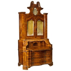 20th Century Walnut, Burl Walnut and Beech Venetian Trumeau, 1950