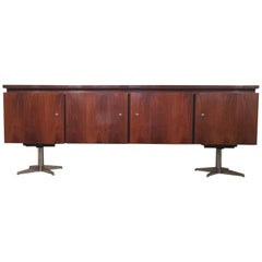 French Midcentury Walnut Sideboard, 1970s
