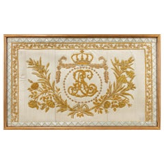 Gold Thread Embroidery of Royal French Interest