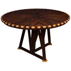 Coromandel Inlaid Breakfast Table