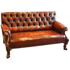 Victorian Leather Club Sofa