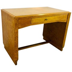 1930s Art Deco Desk Made of Bird's-Eye Maple