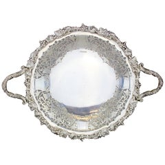 Highly Decorative Silver Tazza or Fruit Dish, Walker & Hall, Sheffield 1933