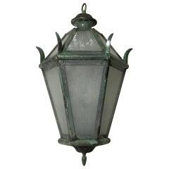 Hanging Brass Lantern