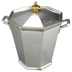 Asprey & Co, Heavy Solid Silver Ice Bucket, London, 1979