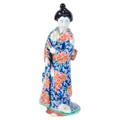 20th Century Japanese Imari Porcelain Geisha Girl