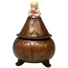Box Josef Hoffmann Copper Ceramics Figurine Klieber Wiener Werkstaette