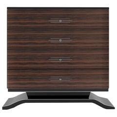 Macassar Wood Commode in Art Deco Design
