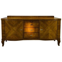 Original Art Deco Buffet Made of Bright Walnut