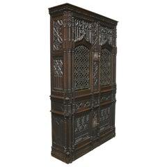 19th Century Amazing Gothic Revival Bookcase