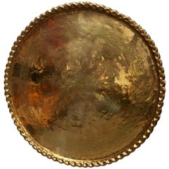 Monumental Anglo-Raj Brass Tray Platter