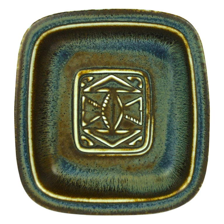 Gunnar Nylund Ceramic Tray by Rörstrand in Sweden For Sale