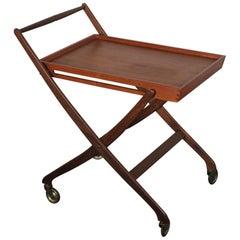 Danish Folding Teak Bar Cart, circa 1965