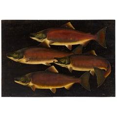 """""""School of Salmon"""" Oil on Board"""