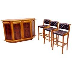 Chesterfield Hausbar Stool Leather Chair Celler Bar Cook
