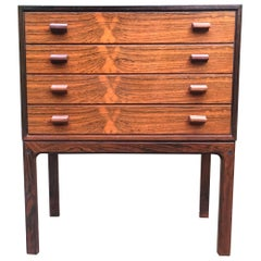 High Quality Danish Small Chest of 4 Drawers
