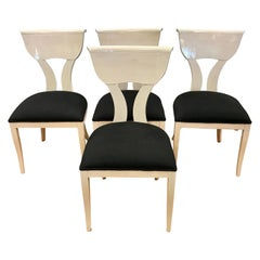 Set of Four Klismos Dining Chairs by Pietro Constantini for Ello, Italy
