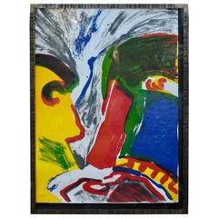 Peter Klasen Wrought-Iron Framed Lithography