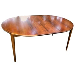 Danish MCM Rosewood Dining Table by Henry Rosengren Hansen, circa 1960s