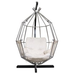 Ib Arberg Hanging Birdcage Chair or Parrot Chair, circa 1970