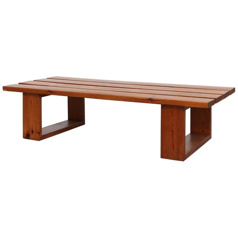 Ate Van Apeldoorn Pine Slat Bench For Sale