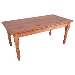 Vintage English Pine Harvest Table