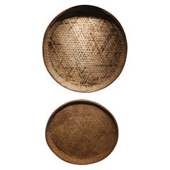 Pair of Early 20th Century Japanese Winnowing Baskets, Pair