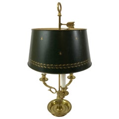 Wonderful Classic French Bouillotte Lamp with Tin Shade