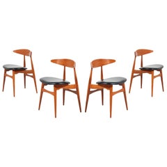 Hans J. Wegner CH-33 Dining Chairs for Carl Hansen & Søn