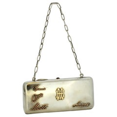 Antique Finnish Silver Coin Purse with Solid Gold Initials, Finland, 1921