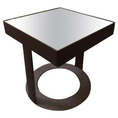 Iron Table with Mirror Top